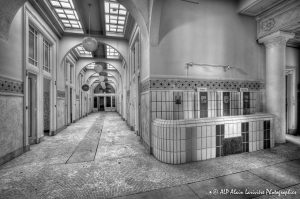 Les Grands Thermes de Châtel-Guyon en 2011 : Rez-de-chaussée -6N&B-