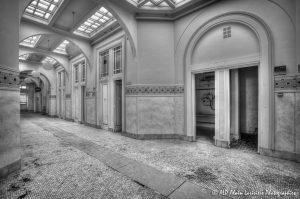 Les Grands Thermes de Châtel-Guyon en 2011 : Rez-de-chaussée -16N&B-