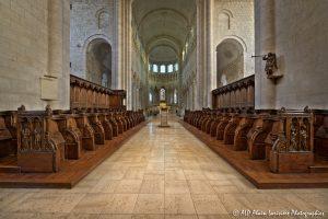 Choeur, transept et nef de la basilique de St-Benoît-sur-Loire -1a-