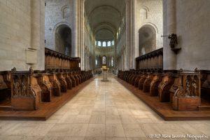 Choeur, transept et nef de la basilique de St-Benoît-sur-Loire -1b-