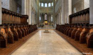 Choeur, transept et nef de la basilique de St-Benoît-sur-Loire -2R-