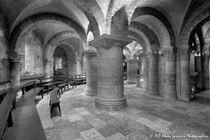 Crypte de la basilique de Saint-Benoît-sur-Loire -1N&B-