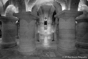 Crypte de la basilique de Saint-Benoît-sur-Loire -3N&B-