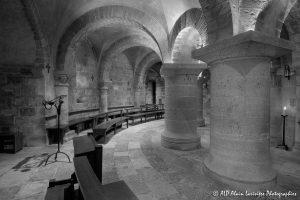 Crypte de la basilique de Saint-Benoît-sur-Loire -4N&B-