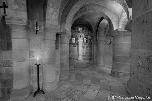 Crypte de la basilique de Saint-Benoît-sur-Loire -5N&B-