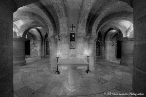 Crypte de la basilique de Saint-Benoît-sur-Loire -6N&B-