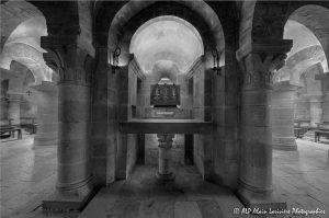 Crypte de la basilique de Saint-Benoît-sur-Loire -8MN&B-