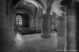 Crypte de la basilique de Saint-Benoît-sur-Loire -9aN&B-