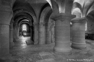 Crypte de la basilique de Saint-Benoît-sur-Loire -10N&B-