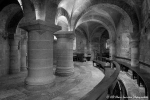 Crypte de la basilique de Saint-Benoît-sur-Loire -11N&B-