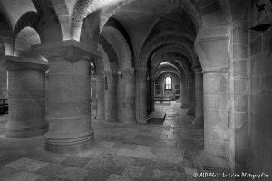 Crypte de la basilique de Saint-Benoît-sur-Loire -12N&B-