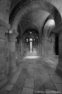 Crypte de la basilique de Saint-Benoît-sur-Loire -14bN&B-