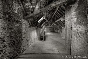 La vieille maison abandonnée, le grenier -1sépia-