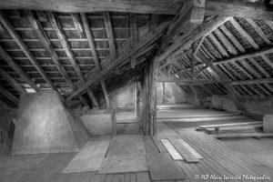 La vieille maison abandonnée, le grenier -3N&B-