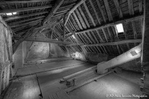 La vieille maison abandonnée, le grenier -6N&B-