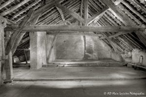 La vieille maison abandonnée, le grenier -8sépia-
